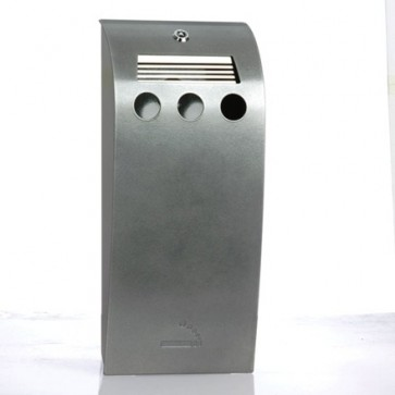 BDW02C - Large Ash Curve Cigarette Bin - Wall Mounted