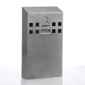 BDW06 Graphite Silver Slimline Cigarette Bin - Wall Mounted