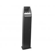Heavy Duty Grey & Stainless Steel Tapered Cigarette Bin (BDF27)
