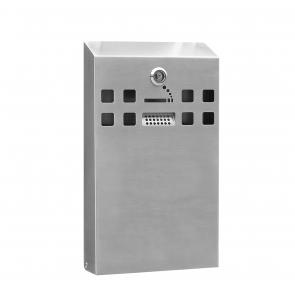 Stainless Steel Slim Wall Mounted Cigarette Bin (BDW04)