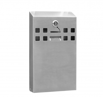 Stainless Steel Slim Wall Mounted Cigarette Bin (BDW04)